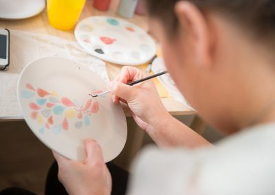 Pottery painting hen party