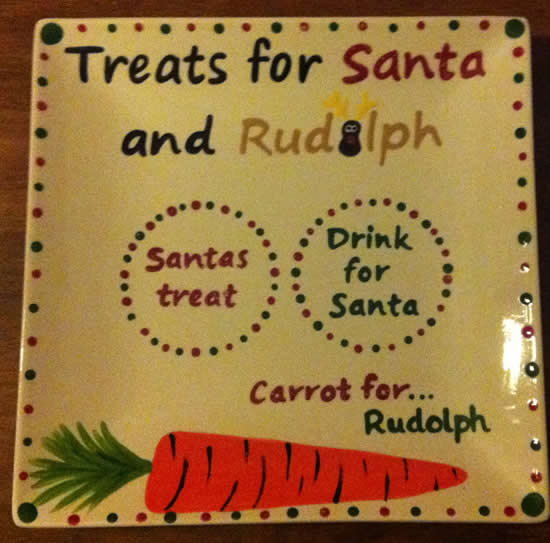 Personalised message for Santa as Christmas gift.