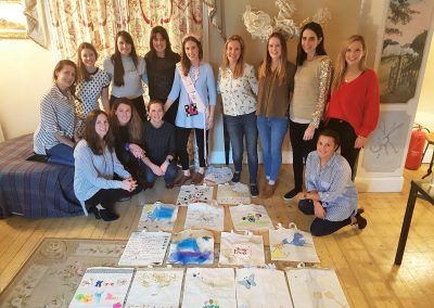 Designer bag making hen party