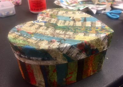 Decoupage box done upcycling workshop in carrick