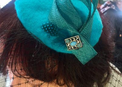 Classy and unique fascinator created at a Hullabaloo Crafternoon
