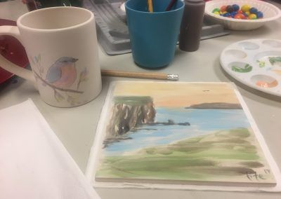 Tile painting workshop in Carrick-on-Shannon