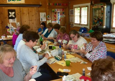 Mug painting session with Women's Shed group in Carrick-on-Shannon