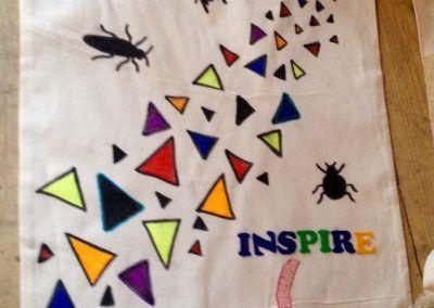 Contemporary designer bag at a Hullabaloo tote bag design hen party