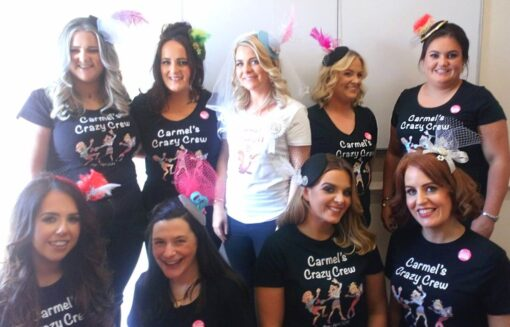 Ladies-wearing-fascinators-designed-themselves-at-creative-hen-party