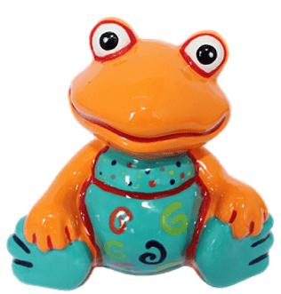 frog-painted-at-hullabaloo-pottery-painting-kids-party