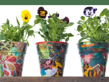 Découpage -Flower-Pots