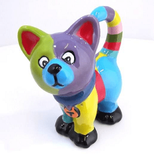 cat-painted-at-hullabaloo-pottery-painting-kids-party