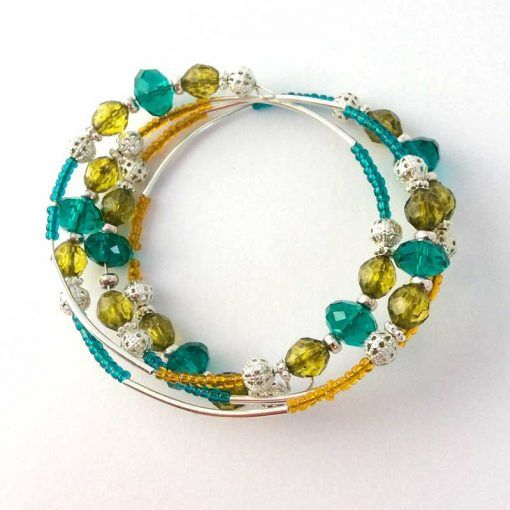 memory-wire-bracelet-made-at-a-craft-hen-party-ireland