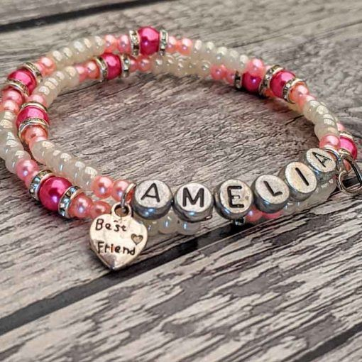 personalised-pink-and-cream-wrap-bracelet