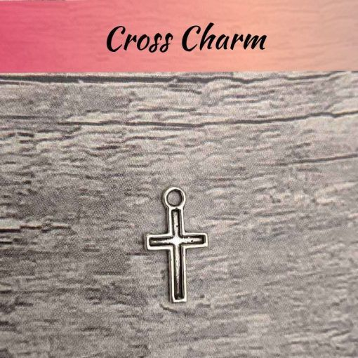 cross silver charm