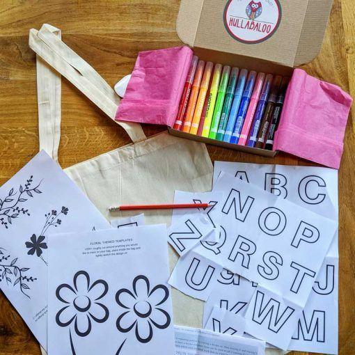 floral-canvas-bag-design-diy-kit