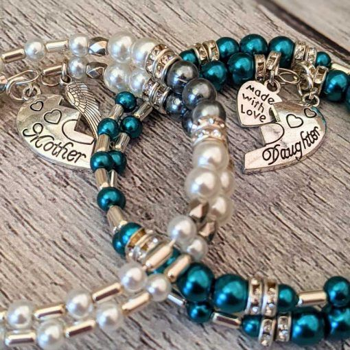 matching-mother-and-daughter-charm-wrap-bracelets
