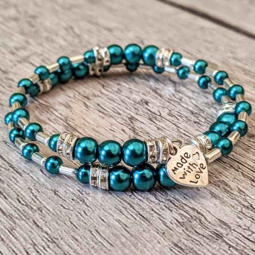 turquoise-and-silver-bracelet-made-using-Hullabaloo-jewellery-making-kits