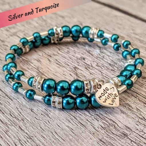 turquoise-and-silver-bracelet-made-using-Hullabaloo-jewellery-making-kits-named